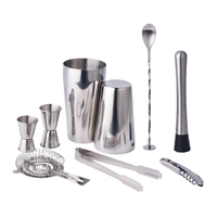 Cross Border for Stainless Steel Boston a Cocktail Shaker Set Bar Tools 9 Piece Set Cocktail Set