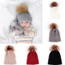 Вязаные шапки для маленьких мальчиков и девочек, милые вязаные шапки, зимняя теплая шапка, 5 цветов