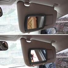 Универсальный автомобильный солнцезащитный зеркальные защитные очки для макияжа солнечное-теневое покрытие косметическое зеркало туалетное зеркало автомобиля зеркало для макияжа с шестью светодиодный свет