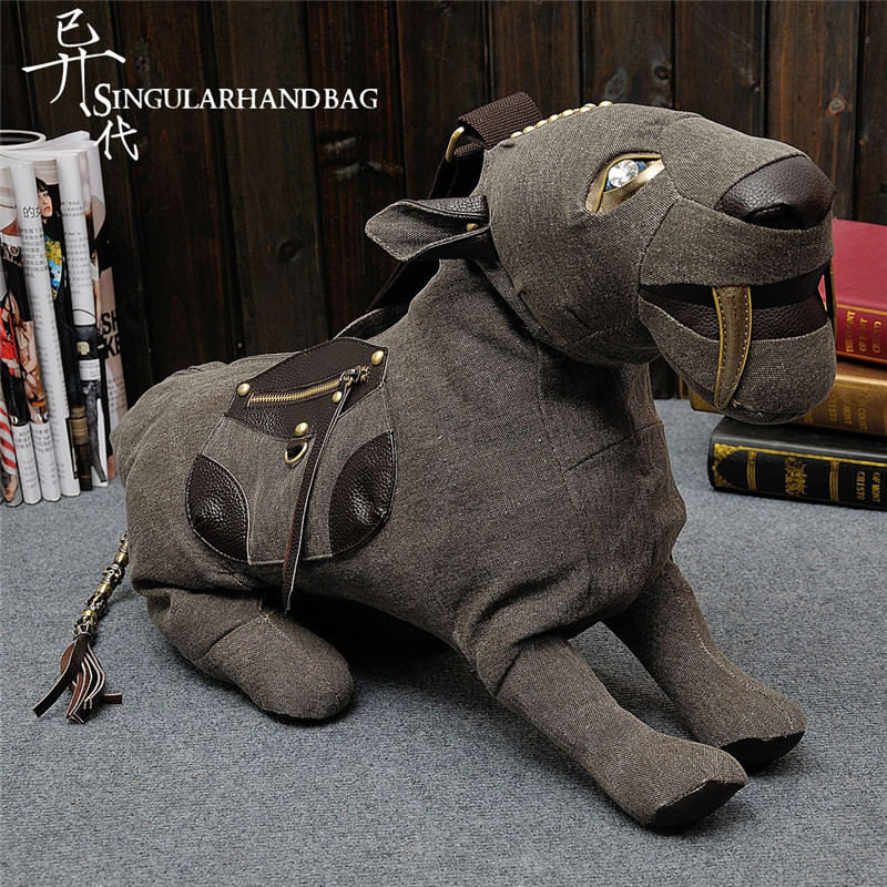 Autumn New Canvas Leather Handbag Saber-toothed Tiger Shape Shoulder Diagonal Package Couples Men and Women Package Generic saber gholizadeh navid dinparast djadid and hamid reza basseri malaria transmission blocking vaccine candidate in iran