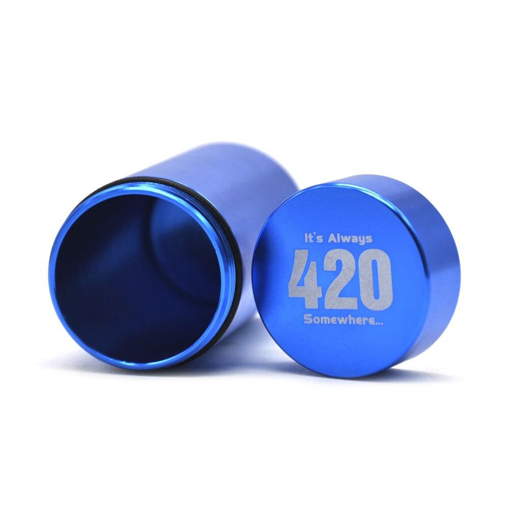 Тайник jar-герметичная запах доказательство Алюминий травы контейнер травы Шлифовальные станки курительная трубка Pill Box, отправить сигары держатель+ Стекло советы для