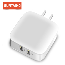 Suntaiho Smart Travel Wall Charger Adapter for iPhone/Samsung/Xiaomi/LG Dual USB Port Charger Fast Charger USB Phone Charger US