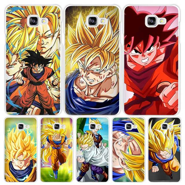 Dragon Ball Z Goku Hard White Shell Phone Case for Samsung