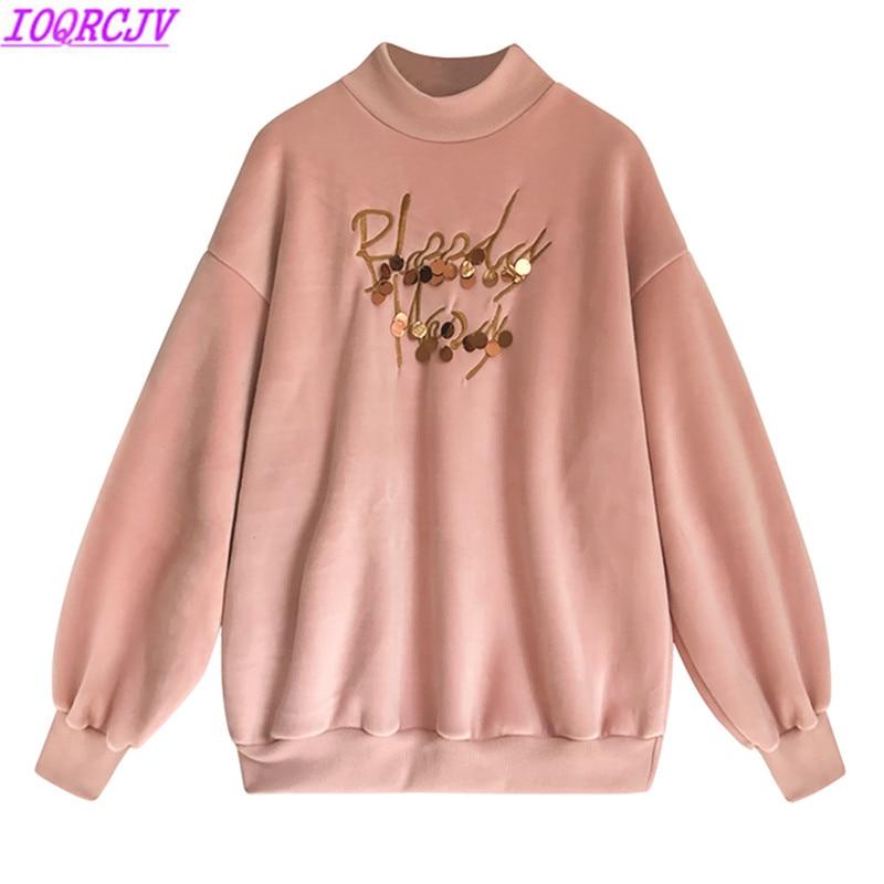 Winter Women T shirt 2018 New Fashion Half Turtleneck Thickened Gold Velvet T shirt Plus Size 4XL Loose Casual Short Women Tops