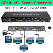 SDI to all Scaler Converter Complete the SDI signal converter SDI TO VGA/CVBS/DVI/HDMI  2017 new hdmi to cvbs hdmi scaler converter video zoom function support hdcp free shipping