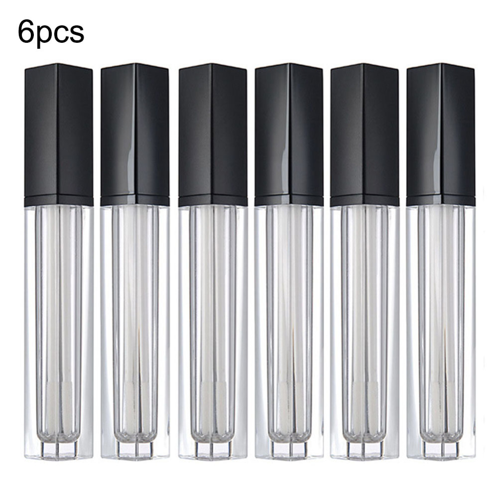 6pcs DIY Lip Gloss Box Containers Reusable Empty Lipgloss Balm Tube Bottles