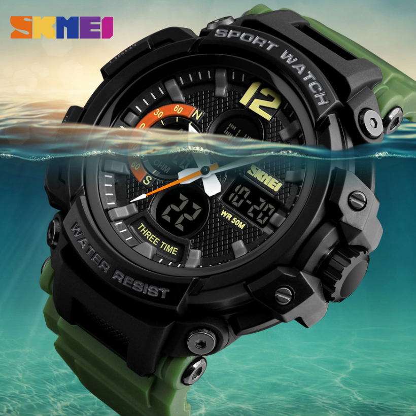 SKMEI New Sports Watches Men Outdoor Fashion Digital Watch Multifunction 50M Waterproof Wristwatches Man Relogio Masculino