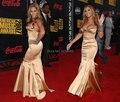 Beyonce Na Venda Sexy Strapless Longo Sereia Vestido de Noite Fora Do Ombro Backless Longos Vestidos Da Celebridade Vestido de Festa