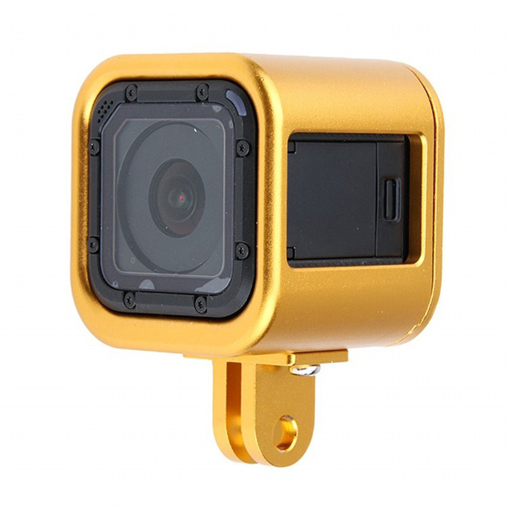 TOURNAGE CNC En Alliage D'aluminium Étui de protection Cadre Protecteur de Couverture De Shell pour Gopro Session Aller Pro Session D'action Caméra Accessoires
