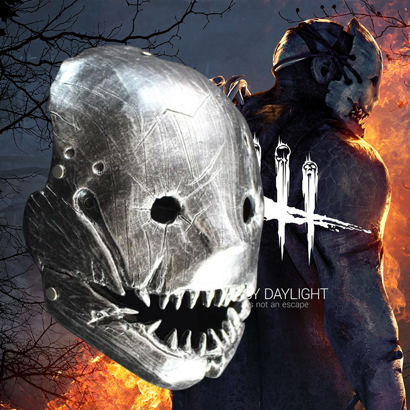 Resin Game Dead by Daylight Mask For The Trapper Cosplay Evan Macmillan Mask Cosplay Props Halloween Accessories