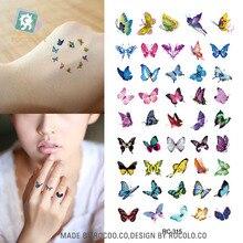 Body Art Waterproof Temporary Tattoos For Women 3d Beautiful Butterfly Design Small Arm Tattoo Sticker s RC2315