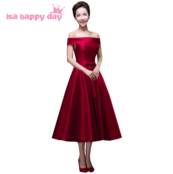 37ad9b297e US $49.02 5% OFF|robe de grad uation new fashion summer 2019 boat neck  simple fitted girlsparty dress graduation red sleeveless ball gown H2904-in  ...