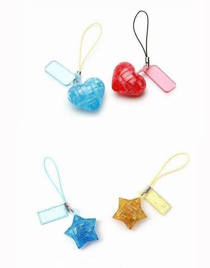 DIY Мини 3D Кристалл Головоломка(случайные узоры смешанные) обучающая игрушка