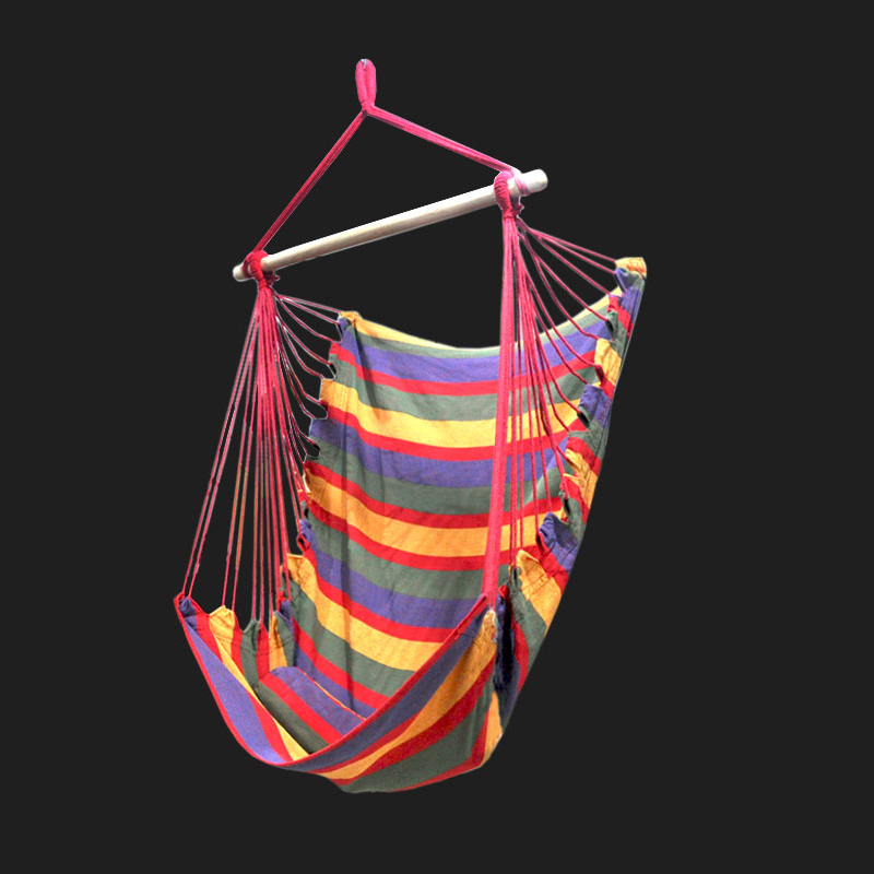 Swing Chair Bedroom Hammock Hanging Chair with Wooden Bar Swing Hanging Chair Single Kids Furniture Can Choose 2*3m RopeSwing Chair Bedroom Hammock Hanging Chair with Wooden Bar Swing Hanging Chair Single Kids Furniture Can Choose 2*3m Rope