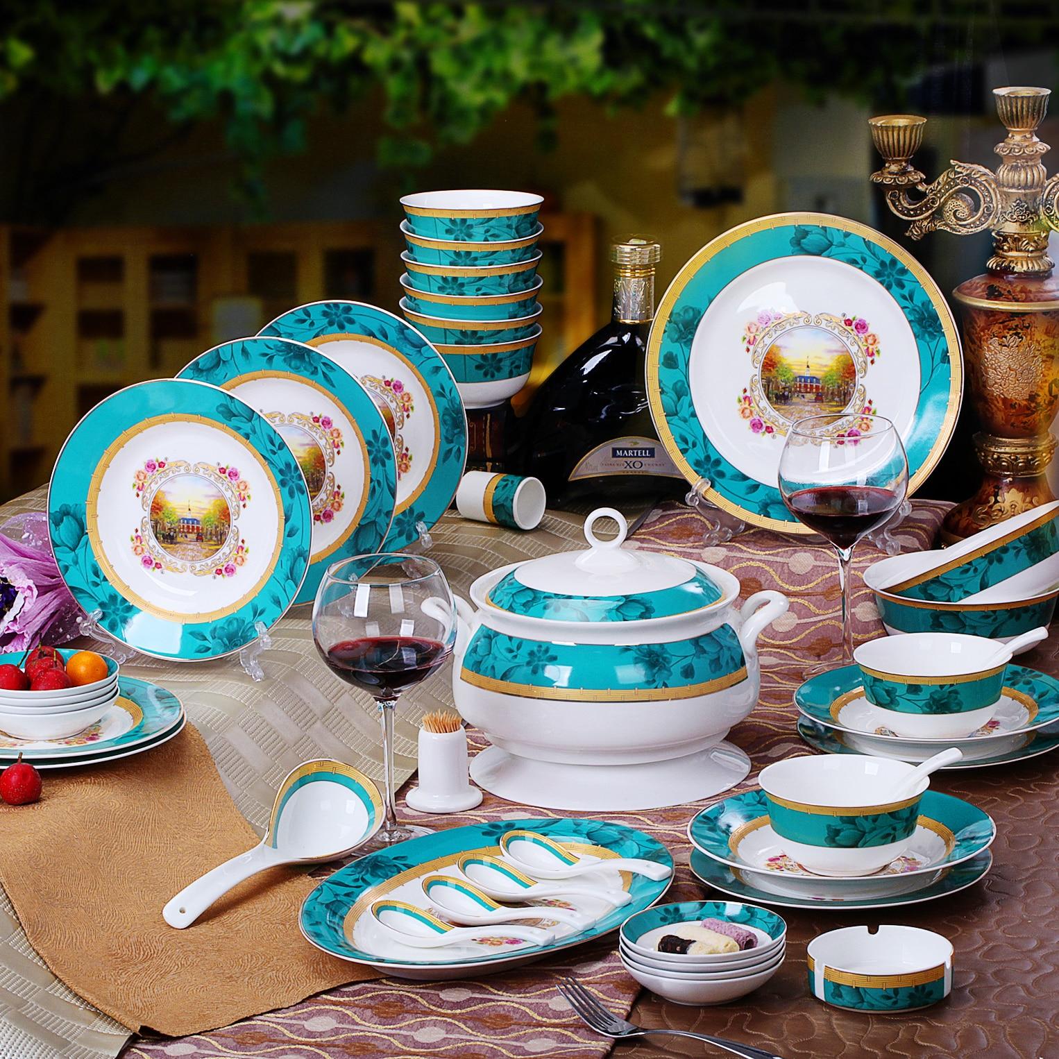 Wedding Gift China: Free Shipping Jingdezhen Ceramic Bone China Bowl Plate