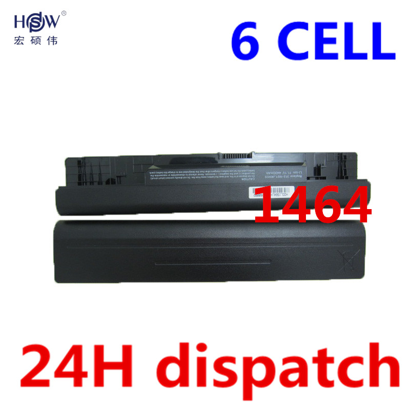 HSW 5200mAh 6Cell Laptop Battery For Dell Inspiron 1464 1564 1764 05Y4YV 0FH4HR 451-11467 5YRYV 9JJGJ JKVC5 NKDWV TRJDK bateria new for dell inspiron 1464 1564 1764 n4010 fan