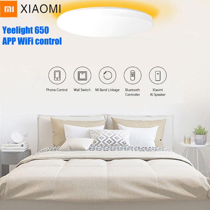 Xiao mi mi contrôle intelligent Yeelight JIAOYUE 650 WiFi Bluetooth APP contrôle entourant l'éclairage ambiant LED plafonnier 200-240 V