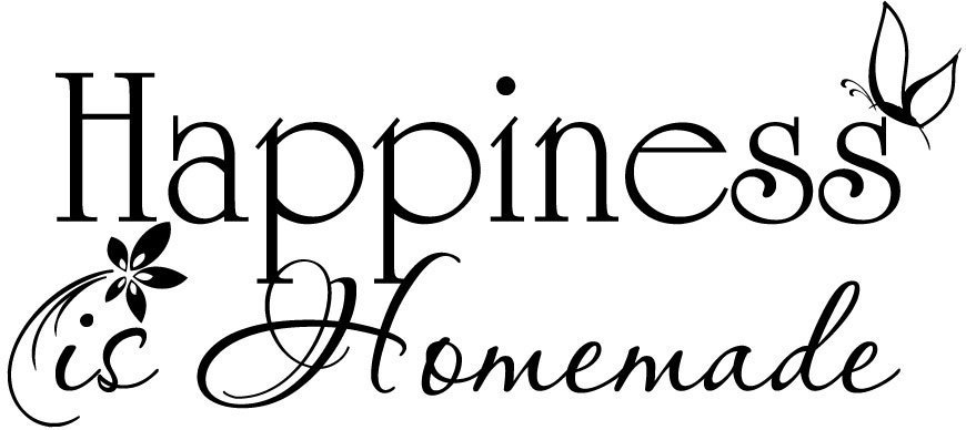 Happiness is Homemade vinyl wall decal quote sticker decor