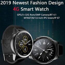 4G 1.6 Cal 3G + 32G ROM 5MP aparat IP67 wodoodporny luksusowy inteligentny zegarek sportowy zegarek gps MTK6739 Smartwatch VS THOR 4 PRO podwójny W2