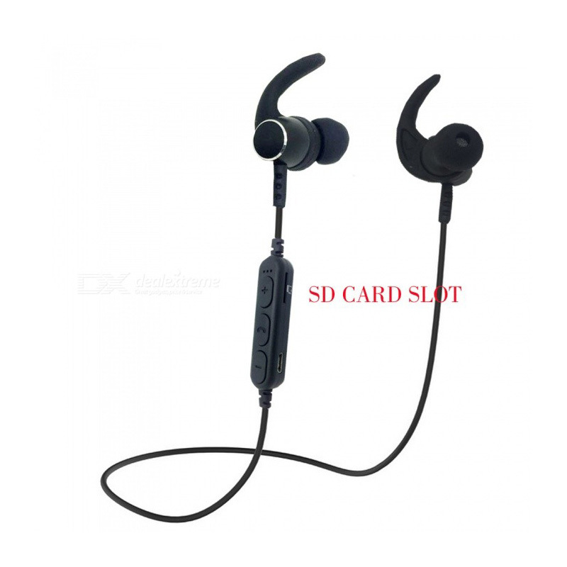 Bluetooth Wireless Earphones Sports Headset Noise Cancelling Stereo ABS + Metal Cancelling Earbuds In Ear Headse HiFi Ear Phones ...