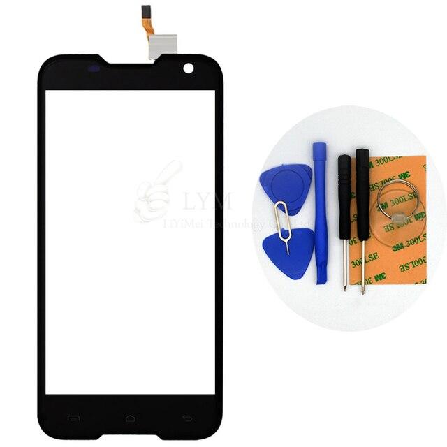 """Preto TP para Blackview BV5000 5.0 """"Digitador Da Tela de Toque Do Painel de Vidro Frontal Sensor Smartphone Substituir Peças Frete Grátis + ferramentas"""