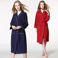 Hotel bathrobe autumn and winter cotton pajamas Ms. big yards long section of absorbent waffle bathrobe