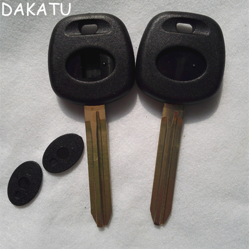 DAKATU For Toyota Camry Highlander Yaris Corolla Corola Reiz Transponder Key Shell TOY43 Blade