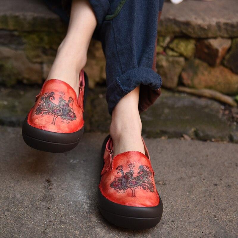 Artmu 원래 봄 새로운 소 가죽 멋진 여성 샌들 크리 에이 티브 레트로 토템 두꺼운 유일한 정품 가죽 수제 샌들 ZH318 19-에서중 힐부터 신발 의  그룹 1