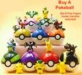 13 Стили 1 Шт. Pokeball + 1 шт. Бесплатная Случайных Чисел Внутри Аниме Дети Фигурки Игрушки