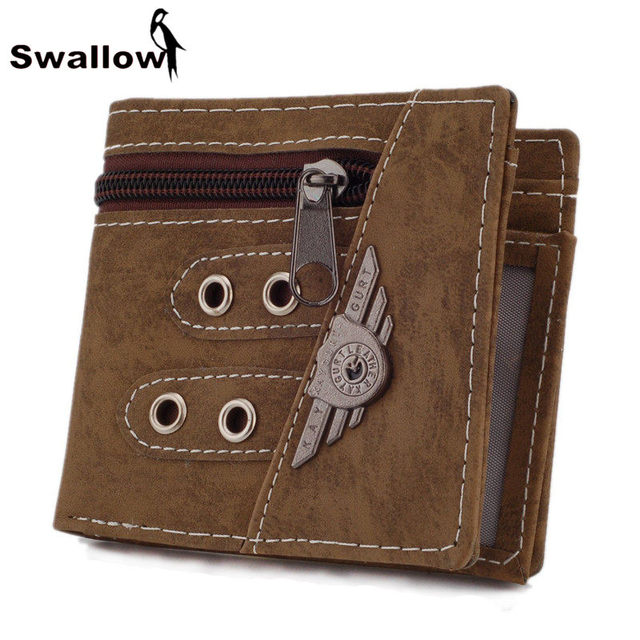 Military Style Canvas Men Wallets Multifunctional Badge Zipper Wallet Famous Brand With Coin Pocket And Card Holder Army Green