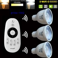 3pcs 2.4G GU10 5W CCT LED Bulb Color Temperature Adjustable Dual White WiiFi Compatible +1x2.4G Mi.Light Wireless Remote