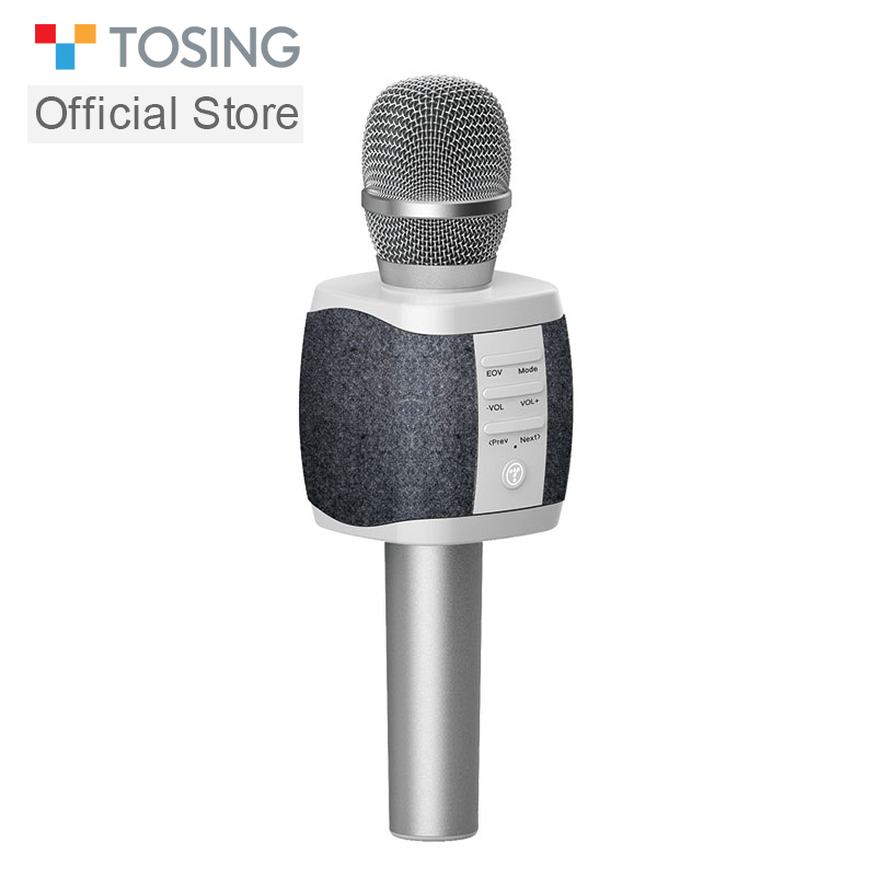 TOSING XR Good-singing Wireless Karaoke Microphone Weave Your MIC Double Speaker For Cell Phone /TV Singing Support TF Card