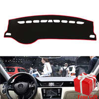 for SKODA Rapid Rapid Spaceback 2014 2019 dashboard mat Protective Shade Cushion Pad interior sticker car styling accessories