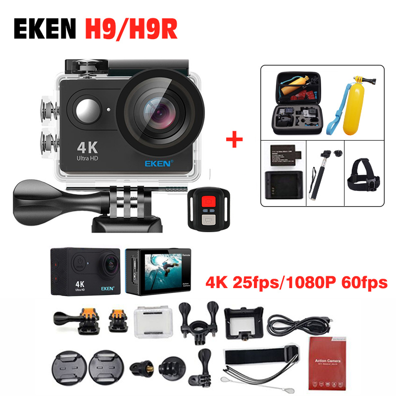 2018 Come! EKEN H9R Waterproof 30M Action camera remote control Ultra HD 1080P/60fps Camera 2.0 LCD pro camera sj 4000 wi-fi vr360 panoramic camera wi fi remote control sports action camera