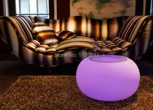 Remote Control BUBBLE OUTDOOR LED waterproof Coffee Table Light LED Multi ROUND Modern Drum Furniture for
