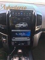 16 дюймов Тесла стиль автомобиля нет dvd плеер gps навигация авто радио для TOYOTA LAND CRUISER LC200 2008 2015 плюс стерео Мультимедиа
