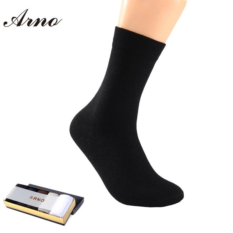 [ARNO] Solid Men Socks Brand 2016 Casual Soft Cotton Men Socks Seamless Socks For Men Business Dress Socks Breathable ,LW5004-5