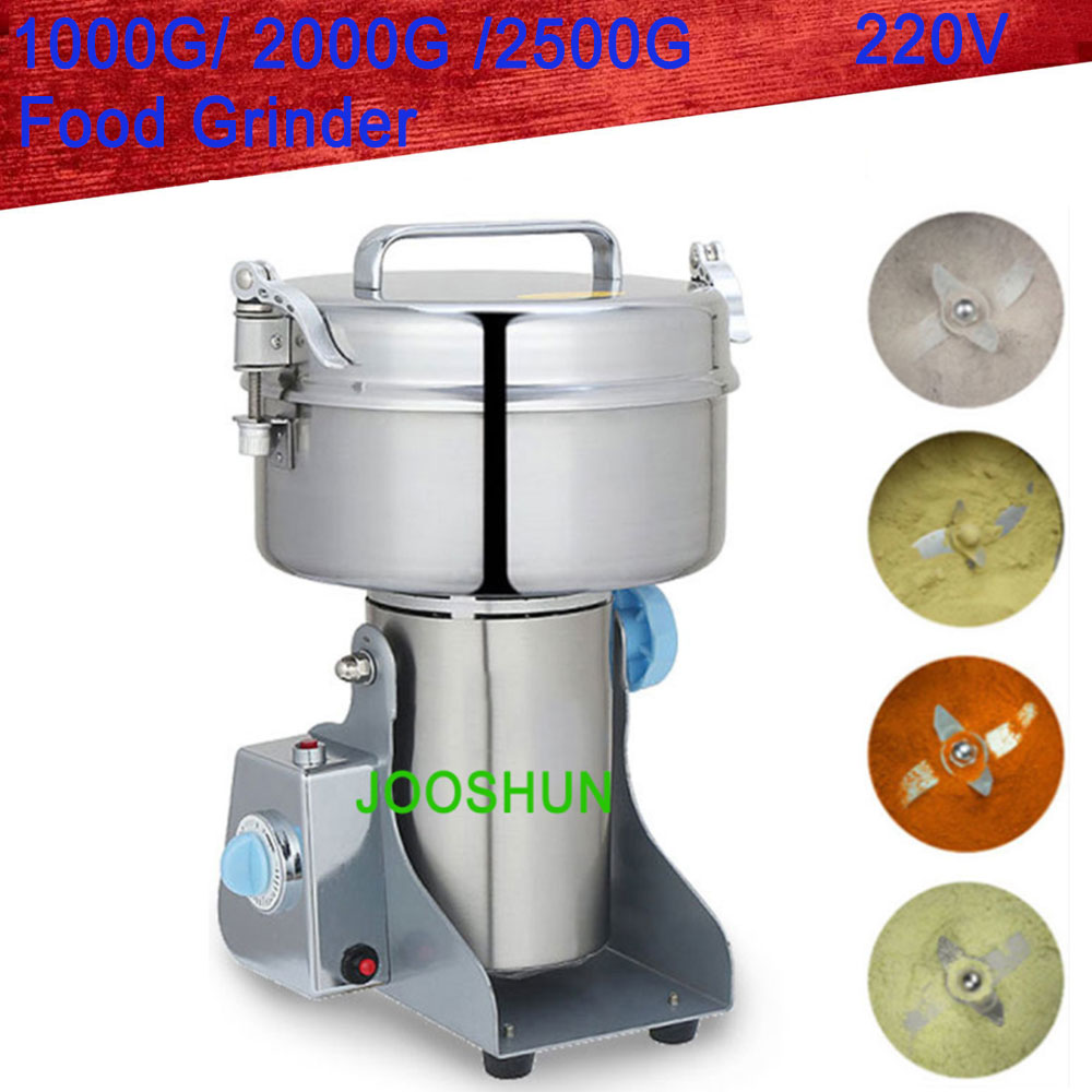 Power Tools 1pc 800g Swing Full Stainless Herb Grinder Gristmill Coffee Pepper Food Grinding Machine