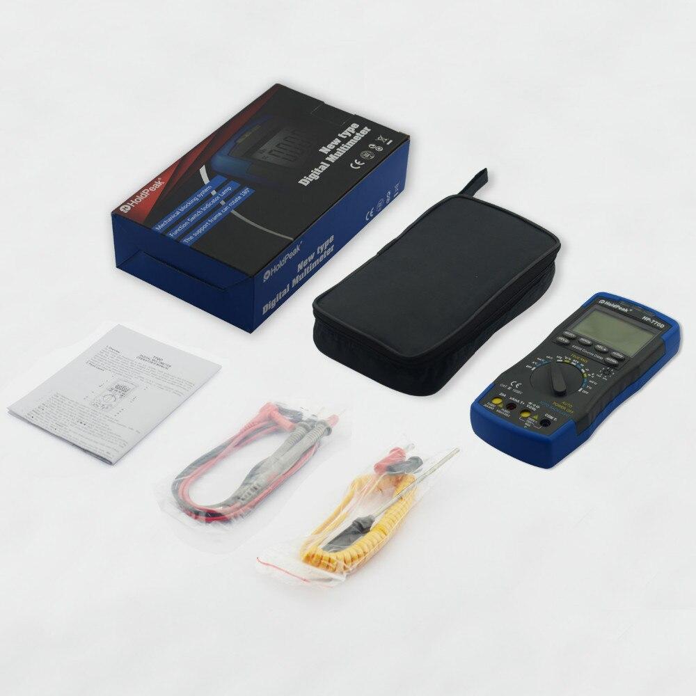 Probador multímetro digital HoldPeak HP-770D Rango automático - Instrumentos de medición - foto 6