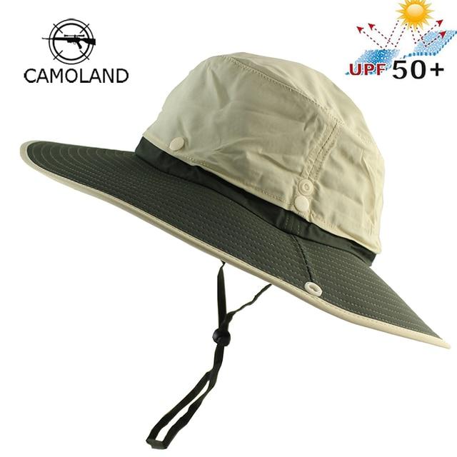 9152b14b3d8 2 in 1 UPF 50+ Waterproof Long Wide Brim Bucket Hat Men Women Boonie Hat  Summer UV Protection Hiking Fishing Outdoor Sun Hat