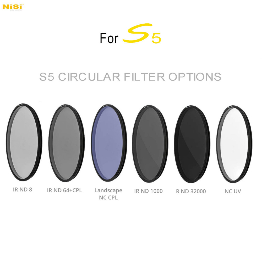 NiSi S5 ND8 / ND64+CPL / ND1000 / ND32000 / Langscape NC CPL / NC UV Circular Filter for S5 150mm Filter Holder