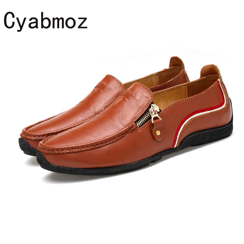 Cyabmoz men loafers 2017 casual fashion men shoes high quality genuine leather male shoes man flats for driving zapatos hombre hot high quality men loafers leather round toe slip on casual shoes man flats driving shoes hombre zapatos comfortable moccasins