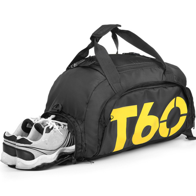 2018 T60 Gym Bag Men Women For Training Sports Bags Fitness Backpack With Shoes Storage