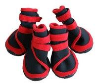 4 pcs Pet Cães Não-slip Oxford Sapatos Botas Meias de Design À Prova D' Água, o transporte da gota