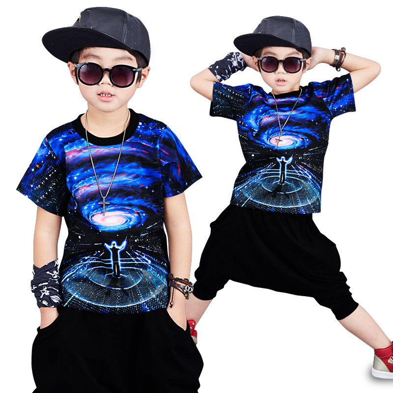 fashion 2018 children sports suits for baby boys clothing set kids printed t shirts & harm pants clothes summer kids tracksuit