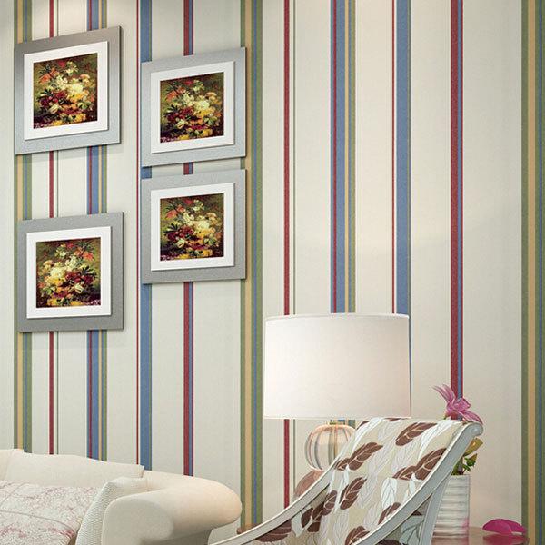 mediterrneo rayas verticales de colores fondos de pantalla no tejidos panel de pared decoracin papel pintado