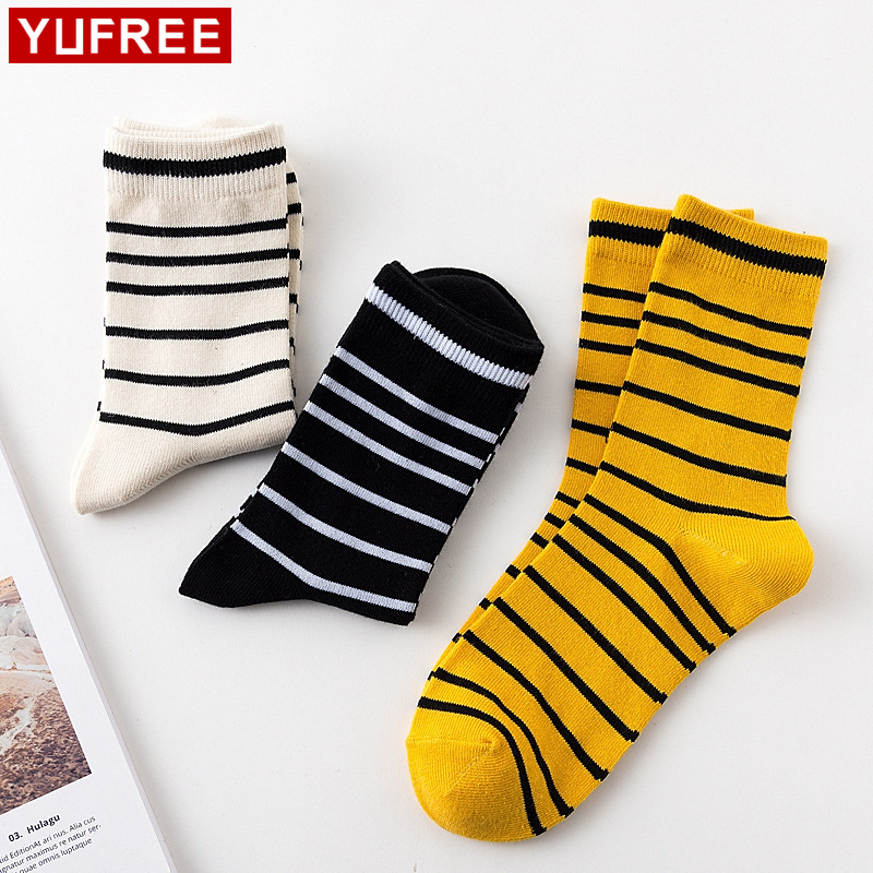 Skateboard Stripe Men Socks Funny Vintage Design Women mens socks 2018 Hot Sale Crew Socks Cool New HE101