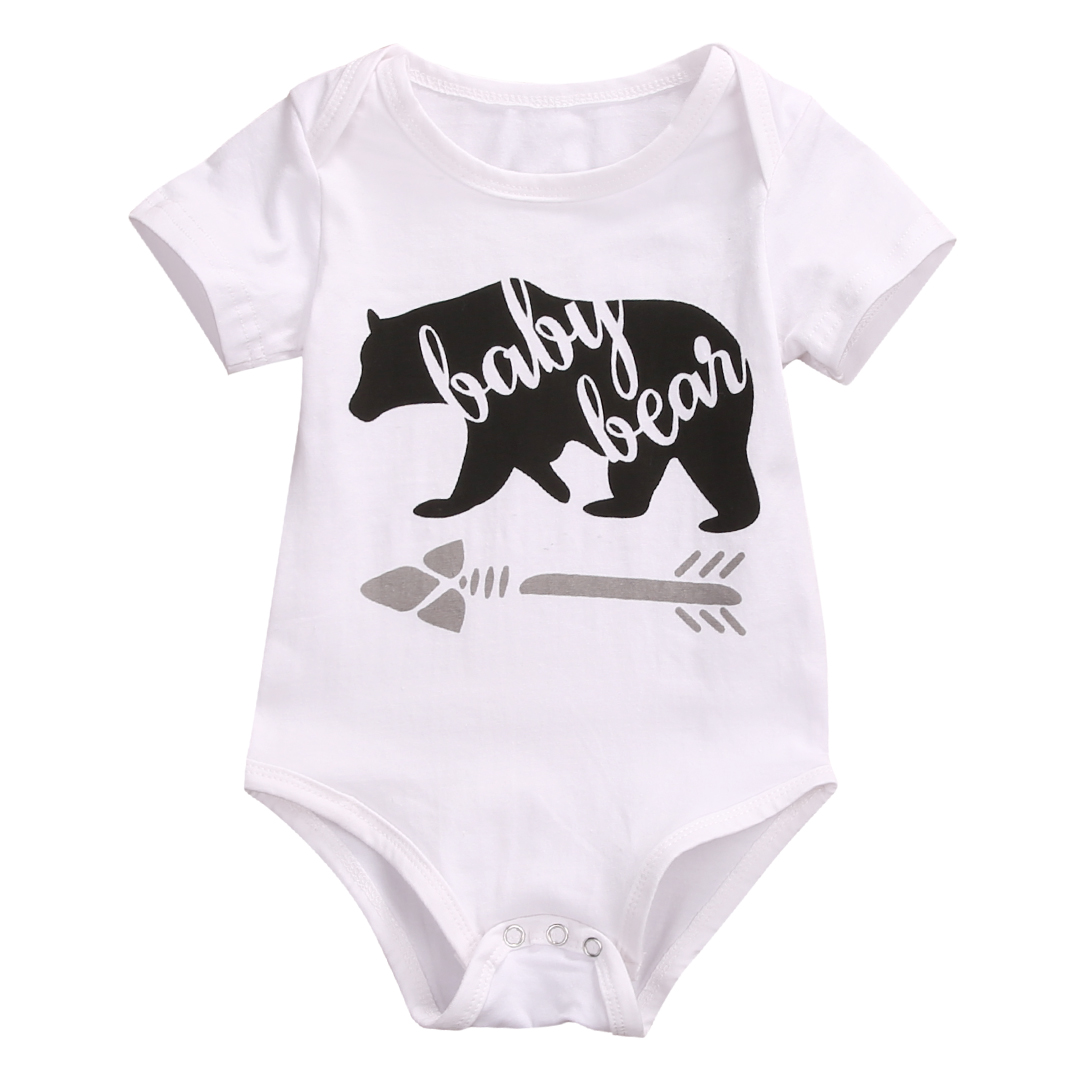 Cotton Newborn Infant Kids Baby Boy Girl Romper Jumpsuit Clothes Outfit Baby Bear Toddler Children Rompers newborn infant baby boy girl cotton romper jumpsuit boys girl angel wings long sleeve rompers white gray autumn clothes outfit