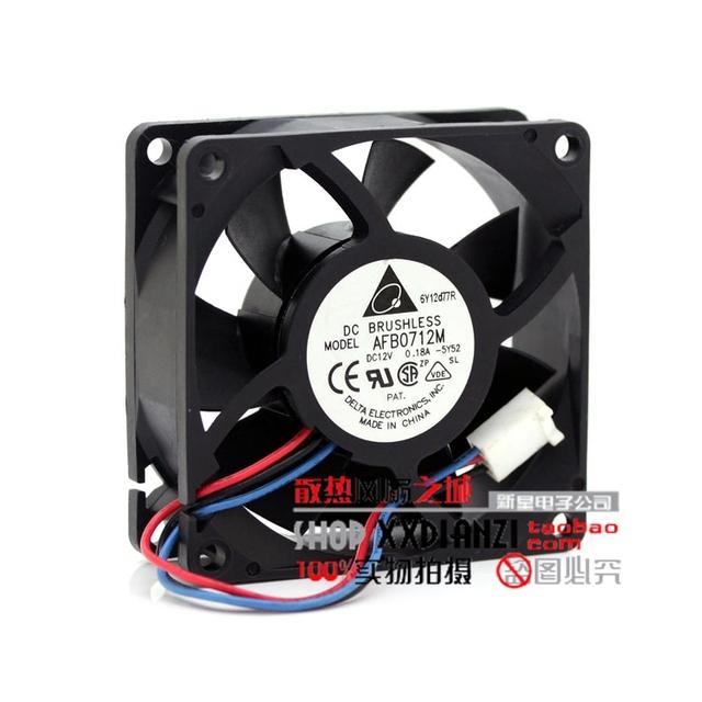 Novo 12 V 7025 0.18A AFB0712M velocidade de 3 fios ventilador de refrigeração da CPU
