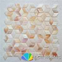 Freshwater shell mother of pearl mosaic tile for kitchen backsplash and bathroom wall tile 11 square feet/lot rhombus pattern